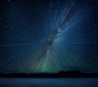 Обои на телефон ночь, небо, космос, звезды, v10, lg