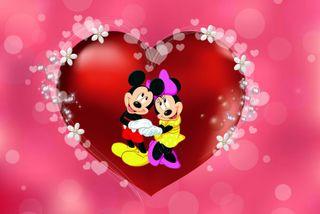 Обои на телефон маус, сердце, микки, любовь, дисней, день, love, disney, 480x320px