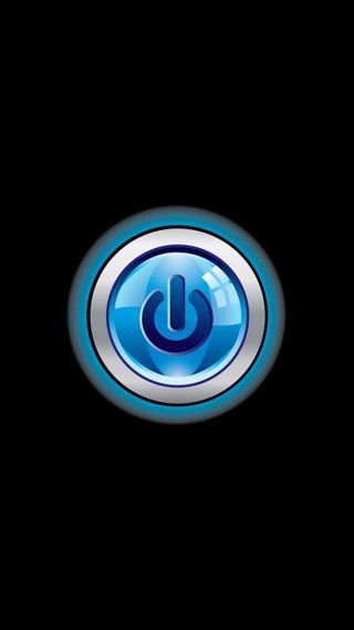 Обои на телефон черные, темные, синие, круги, кнопка, turn on, power