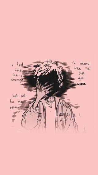 Обои на телефон темные, рисунки, мальчик, жизнь, депрессивные, аниме