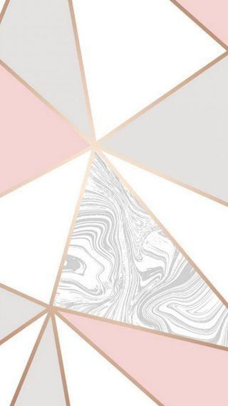 Обои на телефон мрамор, треугольник, серые, розовые, абстрактные, texni