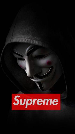 Обои на телефон анонимус, supreme