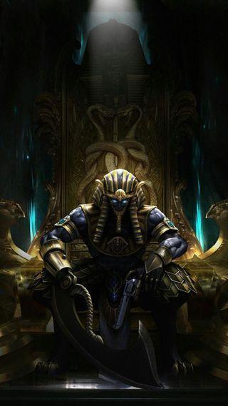 Обои на телефон египет, темные, синие, сидя, король, древний, глаза, бог, pharaoh, hd, ancient egypt