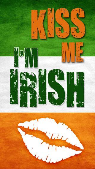 Обои на телефон ирландские, я, удача, трилистник, поцелуй, патрик, клевер, ирландия