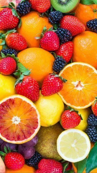 Обои на телефон фрукты, красочные