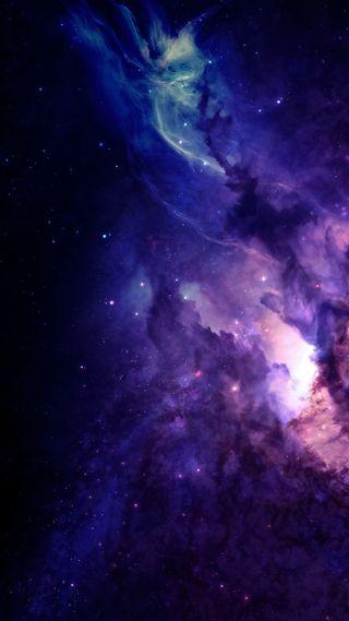 Обои на телефон galaxy, dark solar burst, синие, галактика, темные, космос, фиолетовые, звезды, вселенная, солнечный, взрыв