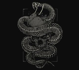 Обои на телефон змея, череп, фон, дизайн, абстрактные, snake and skull, desing abstract