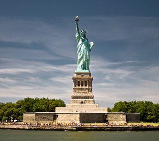 Обои на телефон нью йорк, сша, статуя, скучать, свобода, остров, новый, usa, miss liberty, liberty island