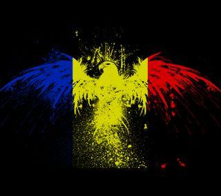 Обои на телефон флаг, румыния