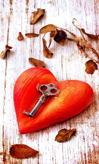 Обои на телефон ключ, сердце, мотивация, любовь, листья, красые, love