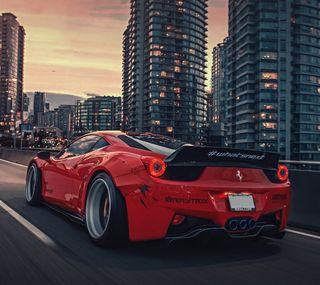 Обои на телефон феррари, машины, красые, италия, дорога, ferrari italia 458, ferrari