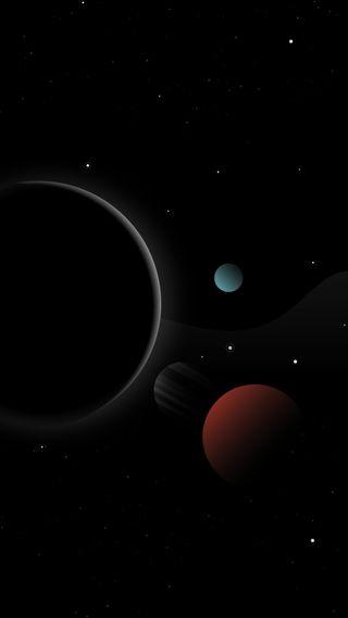 Обои на телефон солнечный, черные, система, планеты, космос, затмение, галактика, вселенная, solar system planets, hd, galaxy