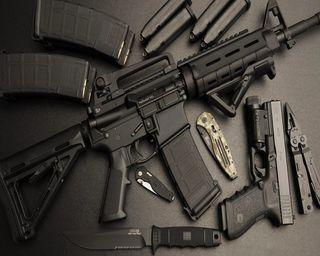 Обои на телефон пистолет, оружие, военные, refile, assault, ar 15
