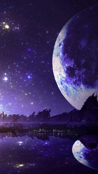 Обои на телефон небо, луна, космос, звезды