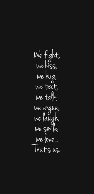 Обои на телефон обнимать, цитата, поцелуй, любовь, высказывания, thats us, love