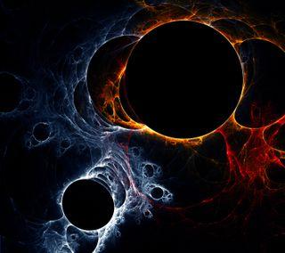 Обои на телефон отлично, черные, огонь, круги, абстрактные, fire circles