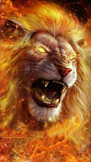 Обои на телефон тигр, рисунки, огонь, лев, зубы, злые, безумные, mad tiger