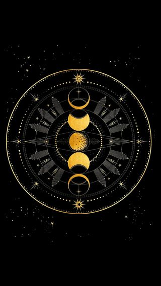 Обои на телефон мотивация, магия, луна, золотые, алхимик, full, transmutation, moon phase
