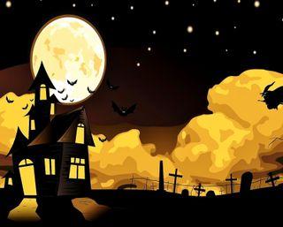 Обои на телефон ведьма, хэллоуин, ужасы, темные, счастливые, смерть, летучие мыши, крест, звезды, graveyard