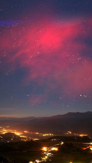 Обои на телефон магия, природа, пейзаж, огни, ночь