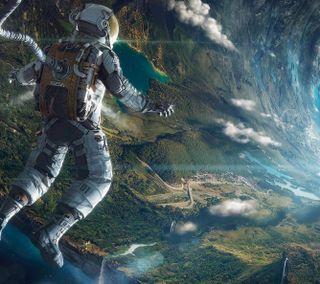Обои на телефон космонавт, космос, земля, 3840x2400-space-2822, 3840x2400