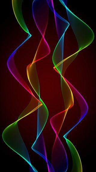 Обои на телефон фрактал, цветные, неоновые, абстрактные