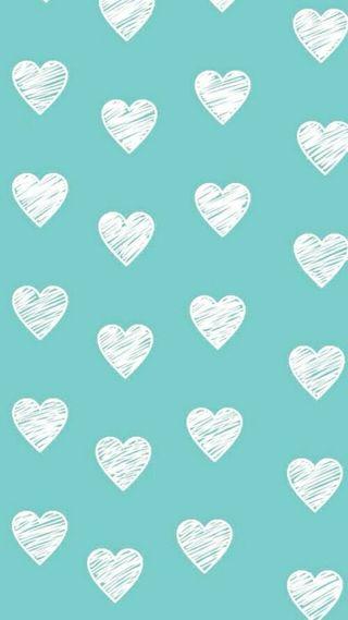 Обои на телефон другие, фон, синие, сердце, белые, абстрактные