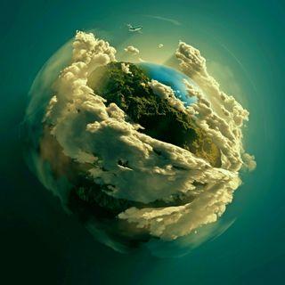 Обои на телефон планета, облака, небо, земля, the earth