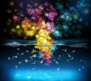 Обои на телефон формы, цветные, вода, splashing hex, hex, 3д, 3d