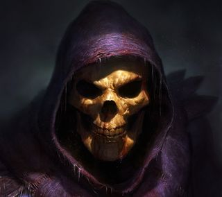 Обои на телефон череп, skeletor