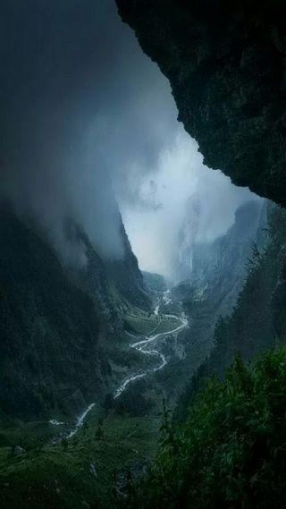 Обои на телефон река, природа, приключение, ночь, небо