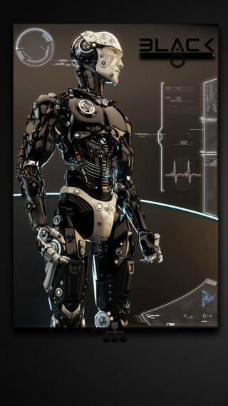 Обои на телефон дроид, черные, темные, киборг, андроид, android