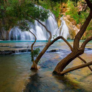 Обои на телефон водопад, природа, пейзаж