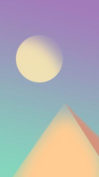 Обои на телефон пастельные, цветные, пирамида, луна, крутые