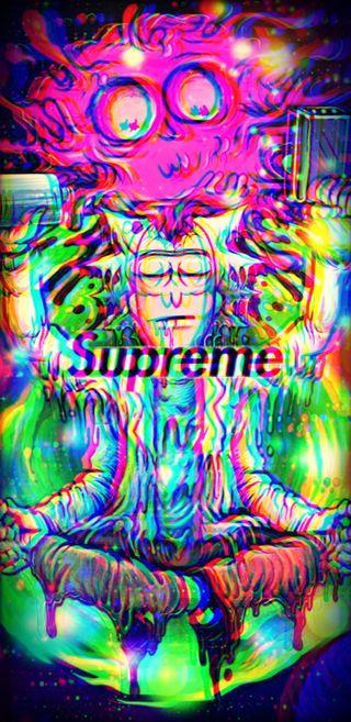 Обои на телефон сбой, странные, рик, психоделические, дзен, вейпорвейв, zen rick, supreme