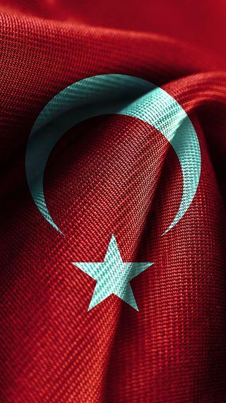 Обои на телефон флаг, турецкие, звезда, луна, арт, art