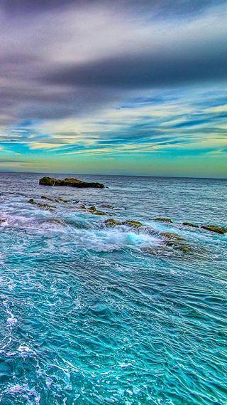 Обои на телефон удивительные, природа, небо, море, красочные, вид, amazing sea view