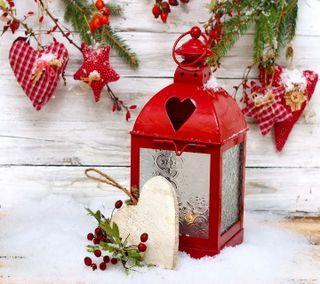 Обои на телефон фонарь, украшение, счастливое, снег, сердце, рождество