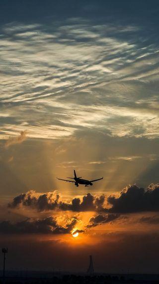 Обои на телефон самолет, закат, sunset and plane, and plane