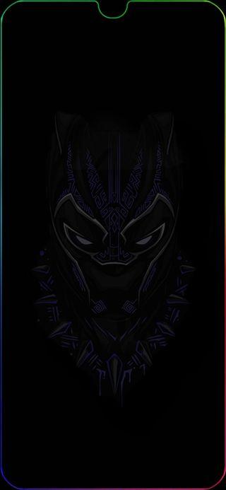 Обои на телефон пантера, черные, самсунг, грани, галактика, samsung galaxy a30, edge black panther