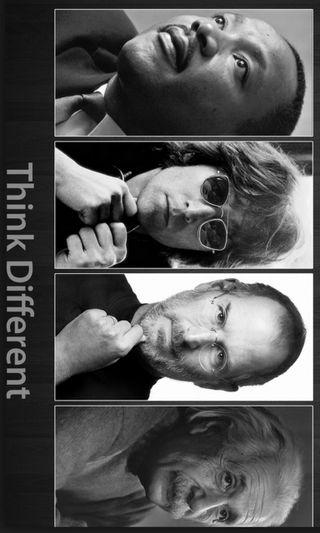 Обои на телефон эйнштейн, стив, мартин, думать, король, другой, джон, think different, steve jobs, martin luther king, john lennon, albert einstein