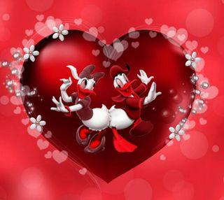 Обои на телефон сердце, любовь, дональд, день, 1440x1280px, love