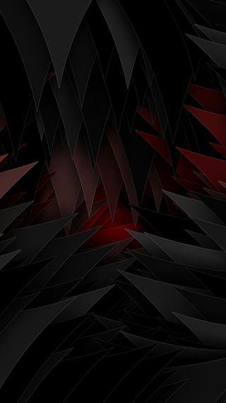 Обои на телефон треугольники, черные, красые, красота, абстрактные, s8, s7, 3д, 3d