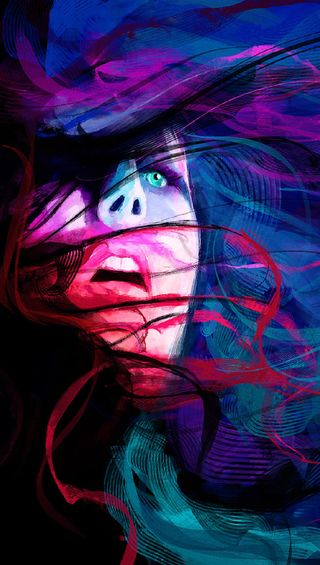 Обои на телефон женщина, цветные, лицо, абстрактные, i6p