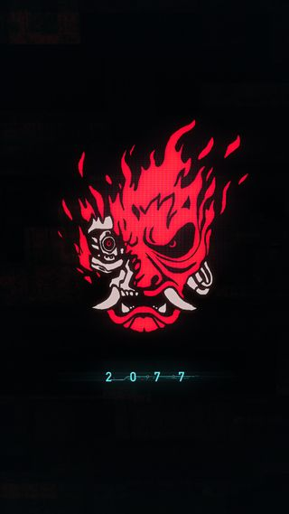 Обои на телефон панк, темные, кибер, дьявол, взлом, cyber punk, 2077