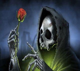 Обои на телефон смерть, череп, темные