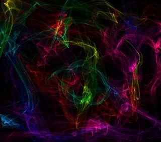 Обои на телефон дым, текстуры, сияние, свет, неоновые, красочные, абстрактные