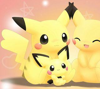 Обои на телефон семья, романтика, покемоны, пикачу, любовь, pikachu family, pichu, love