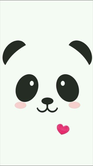 Обои на телефон смайлы, черные, панда, милые, лица, животные, белые