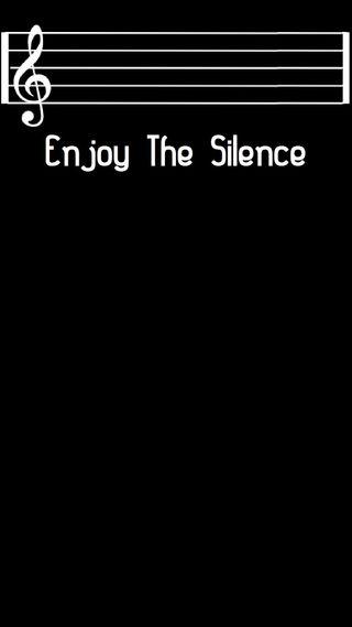 Обои на телефон тишина, наслаждаться, музыка, лирика, treble clef, enjoy the silence